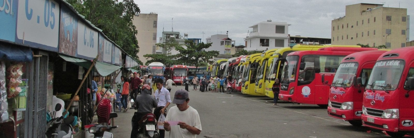 This is the bus terminal for northern services ( Bến Xe Miền Đông)