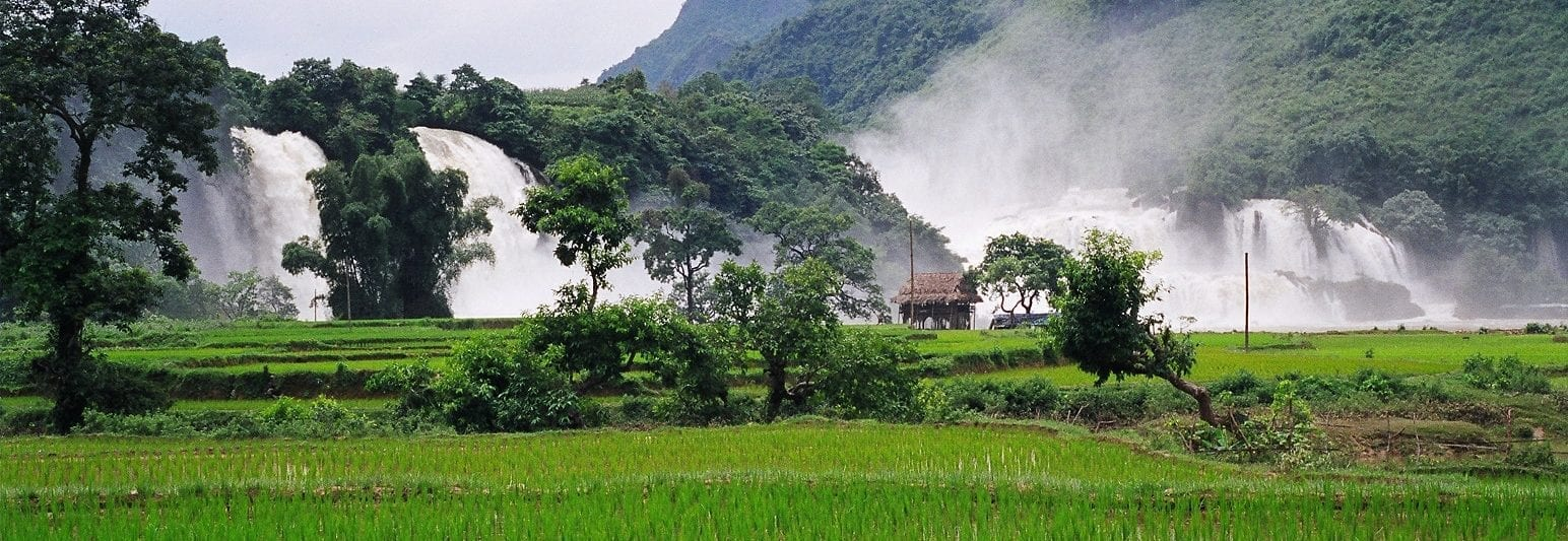 Ban Gioc Waterfall from Vietnam Rainy Season