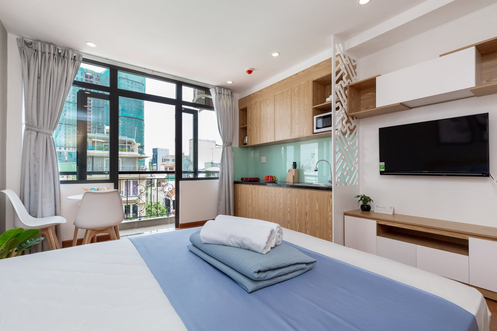 Image of a bedroom at the Cozrum Homes Lý Chính Thắng in HCMC, Vietnam