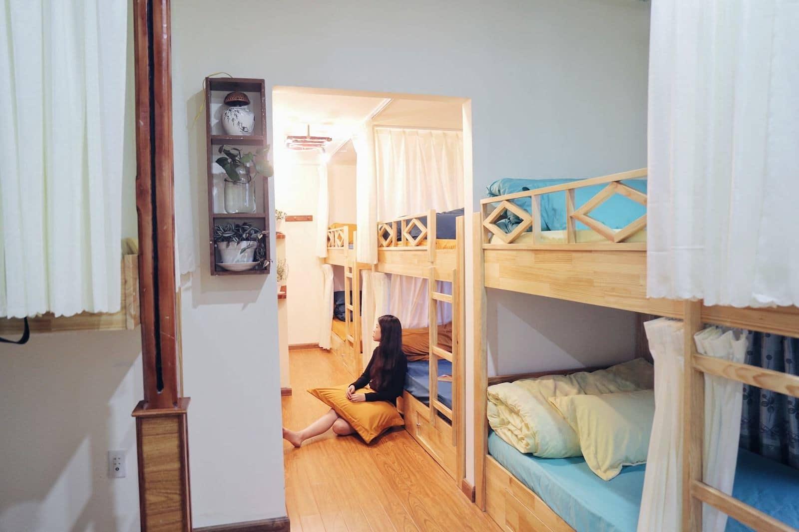 Image of a dorm room at Nhà của Người và Ta homestay in Dalat, Vietnam
