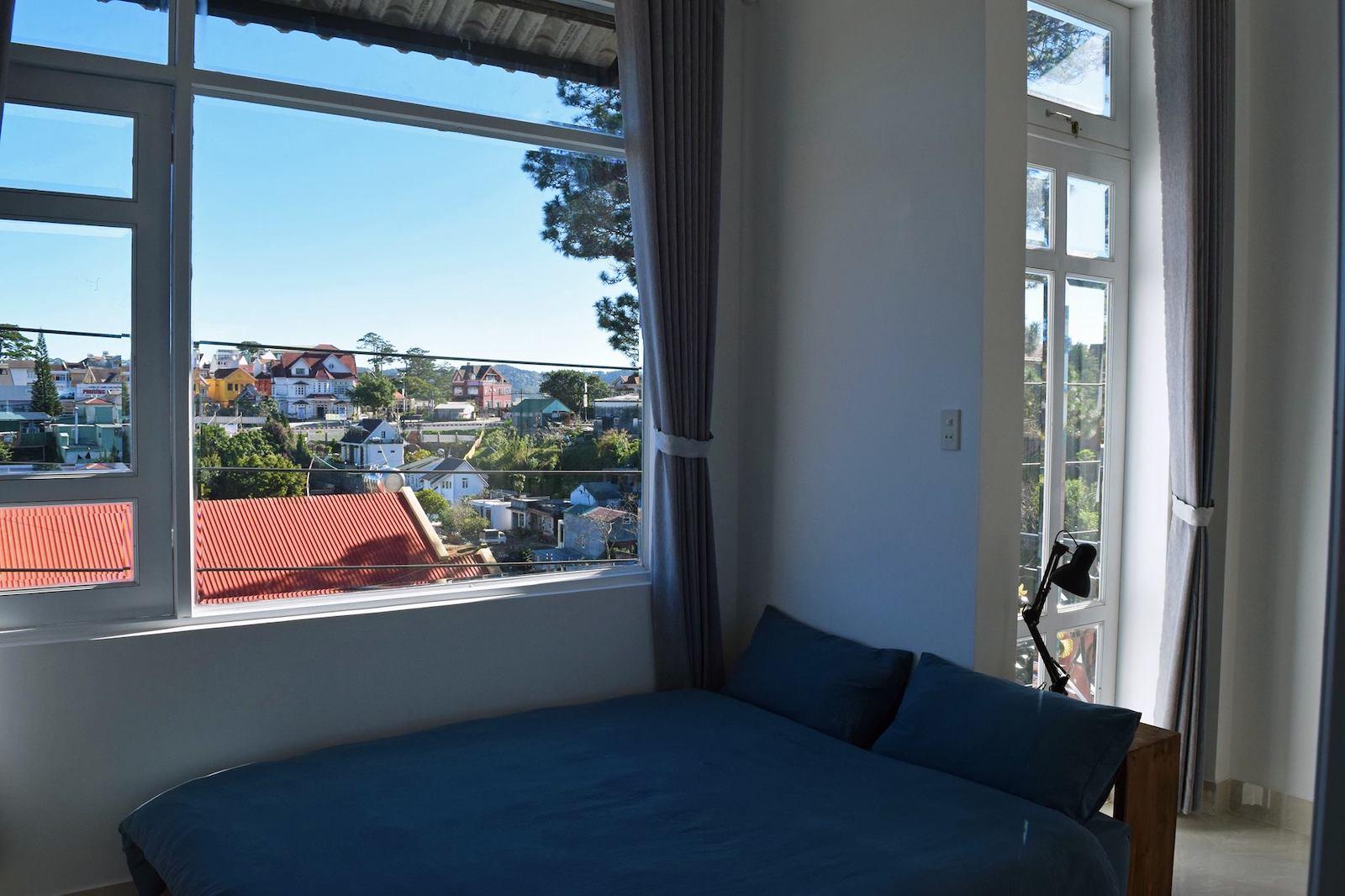 Image of the bedroom from SANY Hostel in Dalat, Vietnam