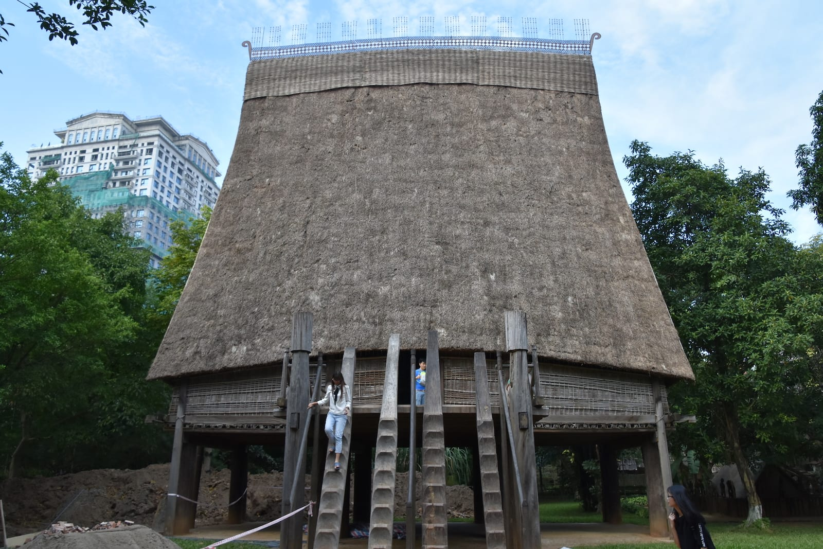 Image of the Bahnar Communal House at the Vietnam Museum of Ethnology in Hanoi