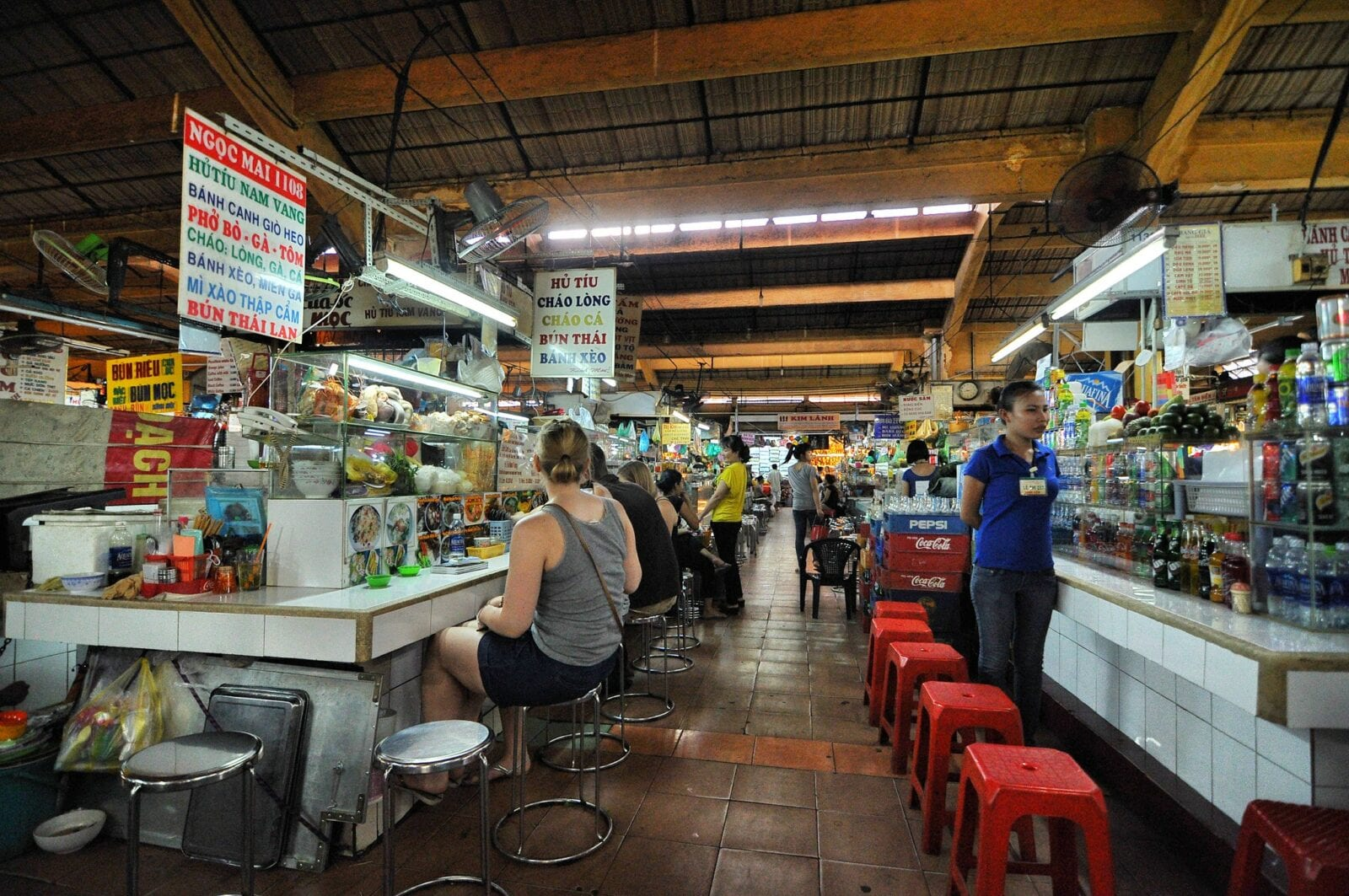 Image from inside the Ben Thanh Market in HCMC, Vietnam