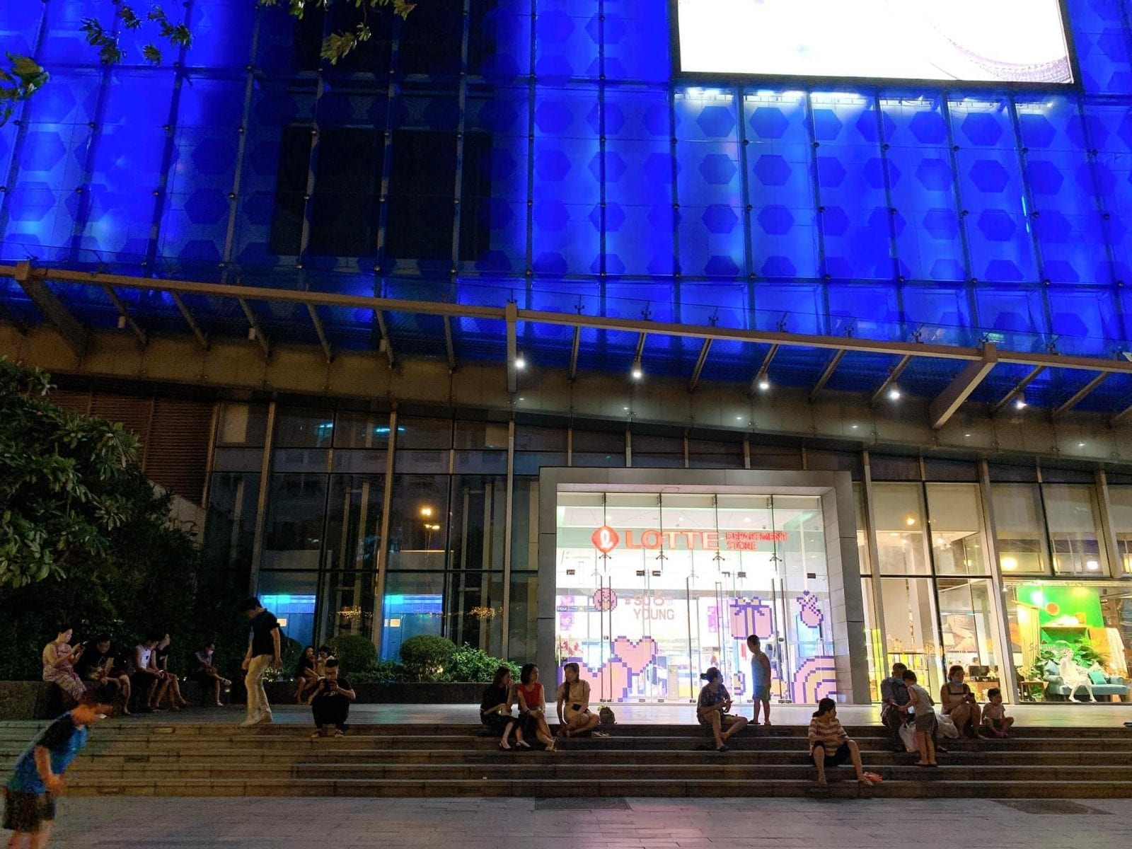 Image of the entrance of the Lotte Department Store in Hanoi, Vietnam