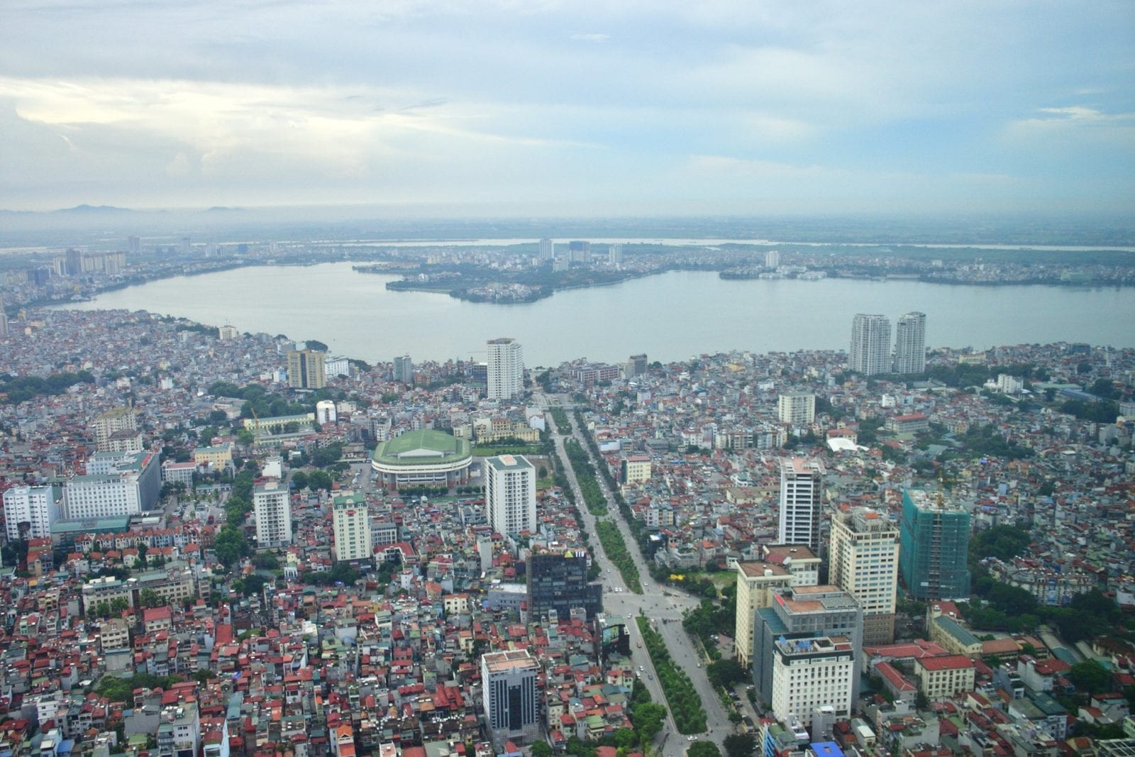 Image of the view from Lotte Center Hanoi in Vietnam