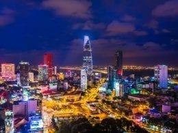 Image of Hanoi's skyline at night