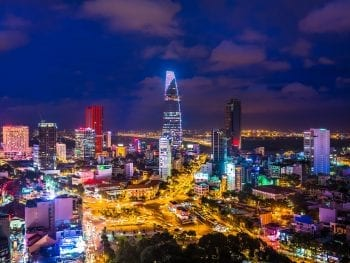 Image of Hanoi's skyline at night