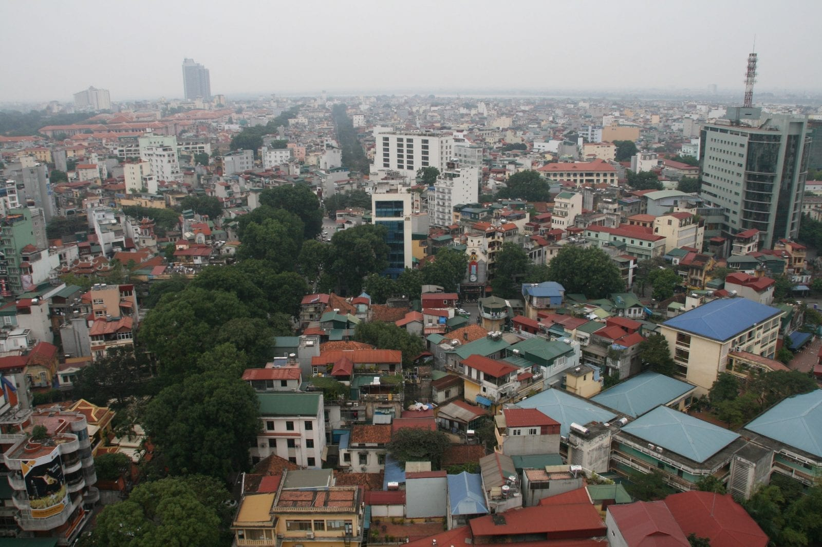 Image of the skyline in Hanoi, Vietnam during the day
