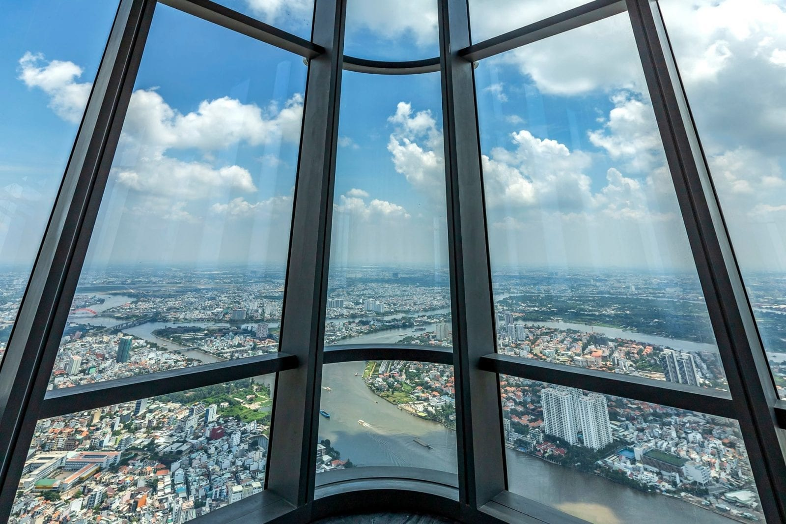 Image of the view from thr Observation Deck at Landmark 81 SkyView in HCMC, Vietnam