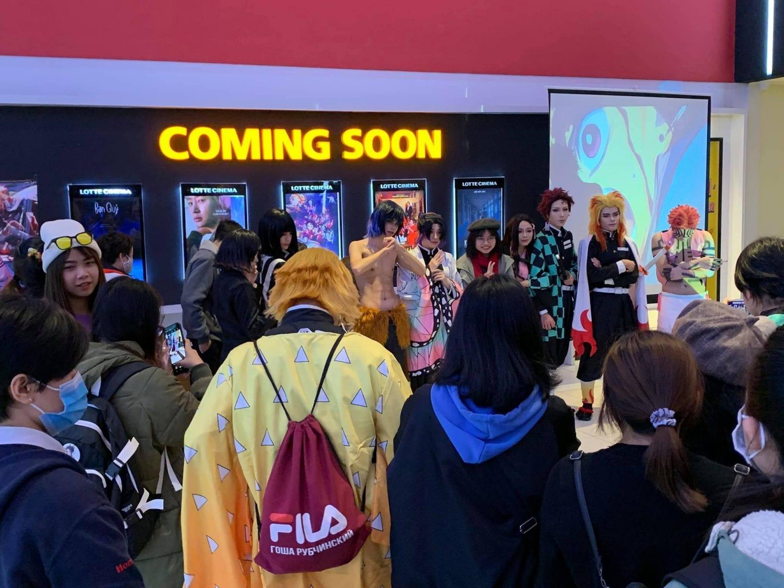 Image of anime fans at Lotte Cinema at Landmark 72 in Hanoi, Vietnam