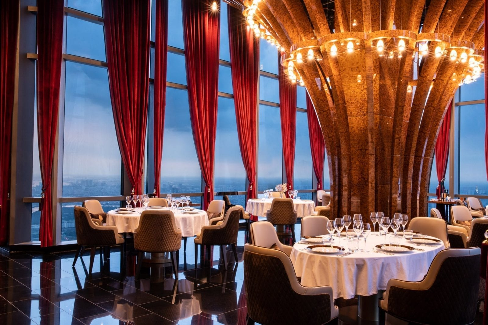 Image of the interior of the Truffle Restaurant in Landmark 81