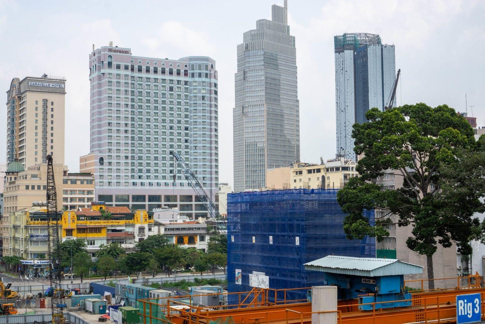 Image of the Vietcombank Tower Saigon in Vietnam
