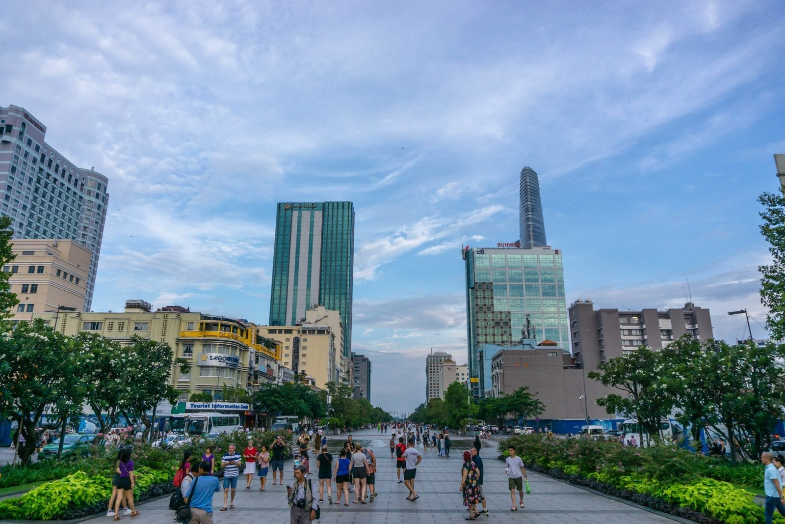 Image of the Nguyen Hue Walking Street in Ho Chi Minh City, Vietnam