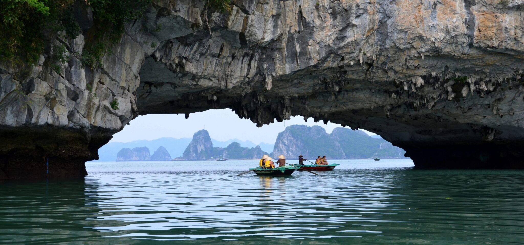 Seaside Cave in Bai Tu Long National Park Vietnam