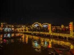 Image of the Bridge of Light's in Hoi An, Vietnam at night