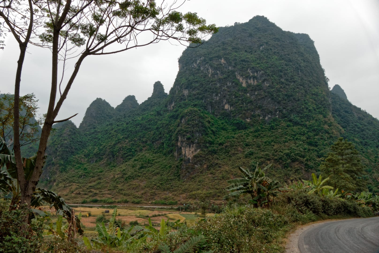 Mountains in Cao Bang Province Vietnam