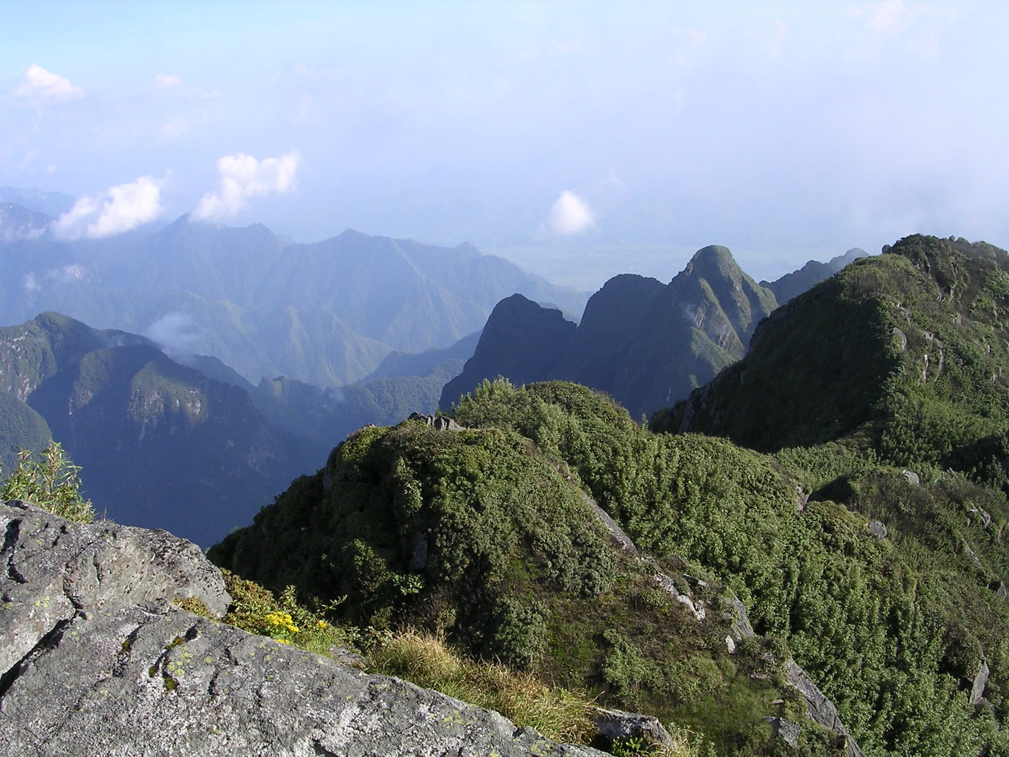 Image of the Fansipan Mountain in the Hoang Lien National Park in Vientam