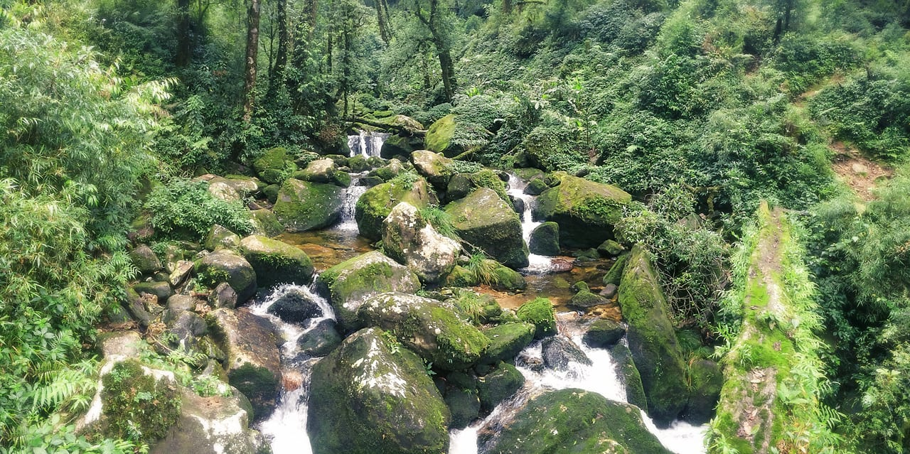 Image of a stream seen during the hike at pu ta leng in vietnam