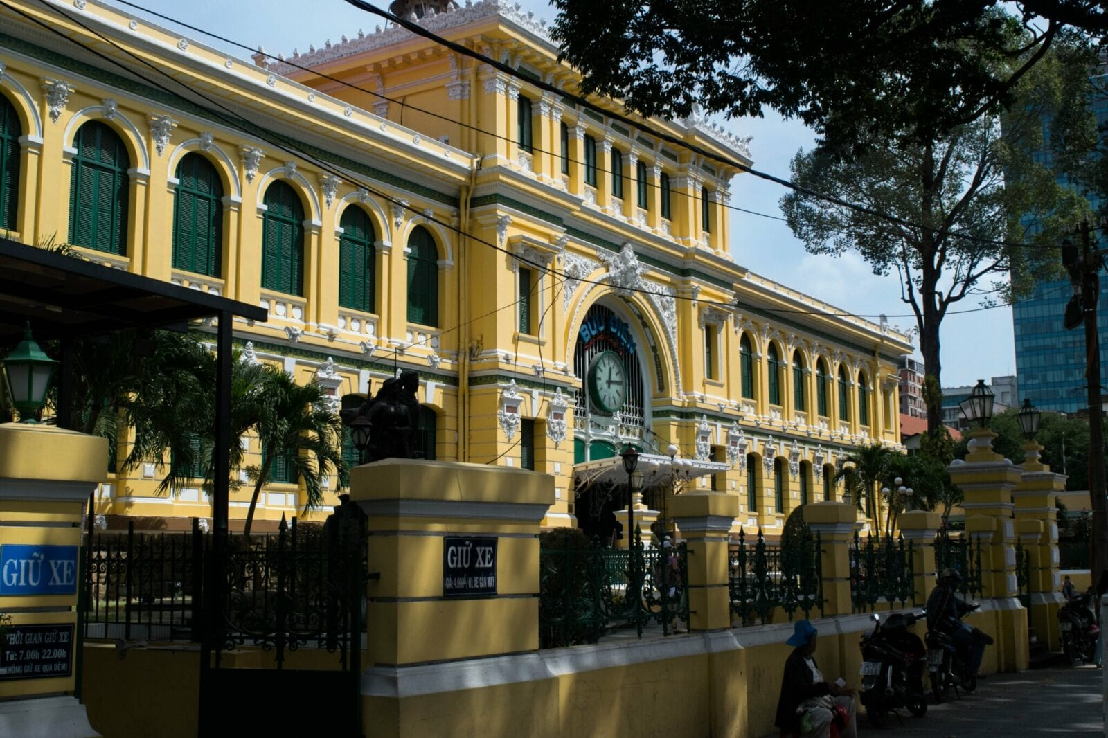 Image of the Saigon Central Post Office exterior in Vietnam