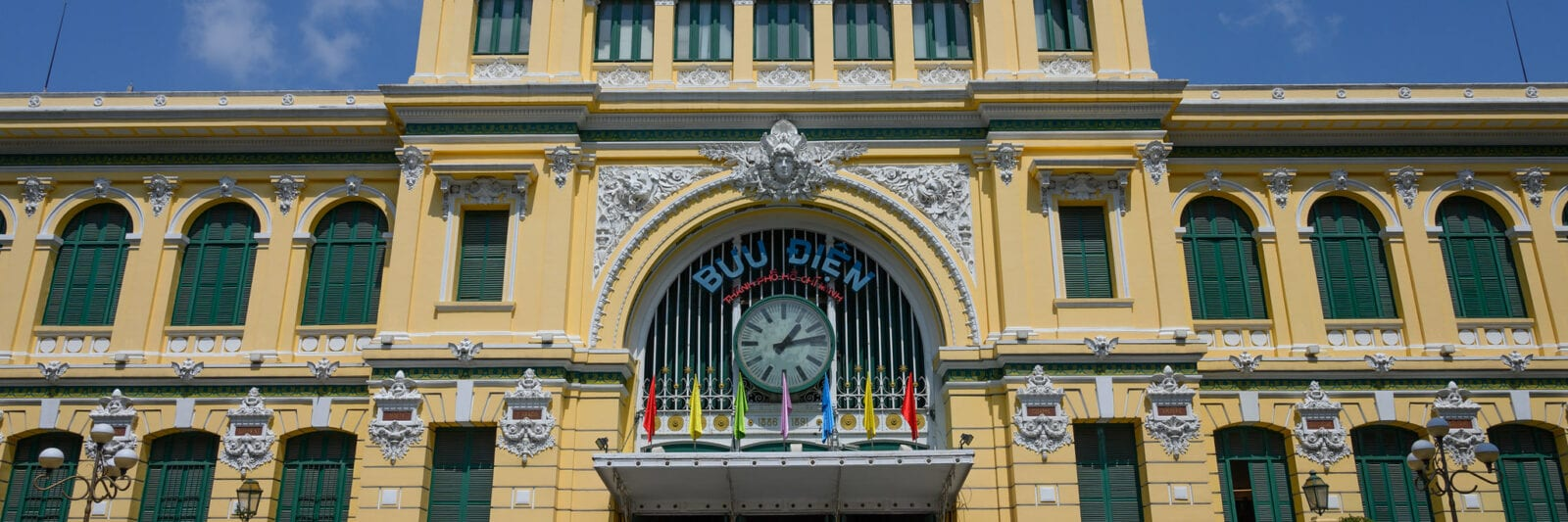 Image of the Saigon Central Post Office in Vietnam