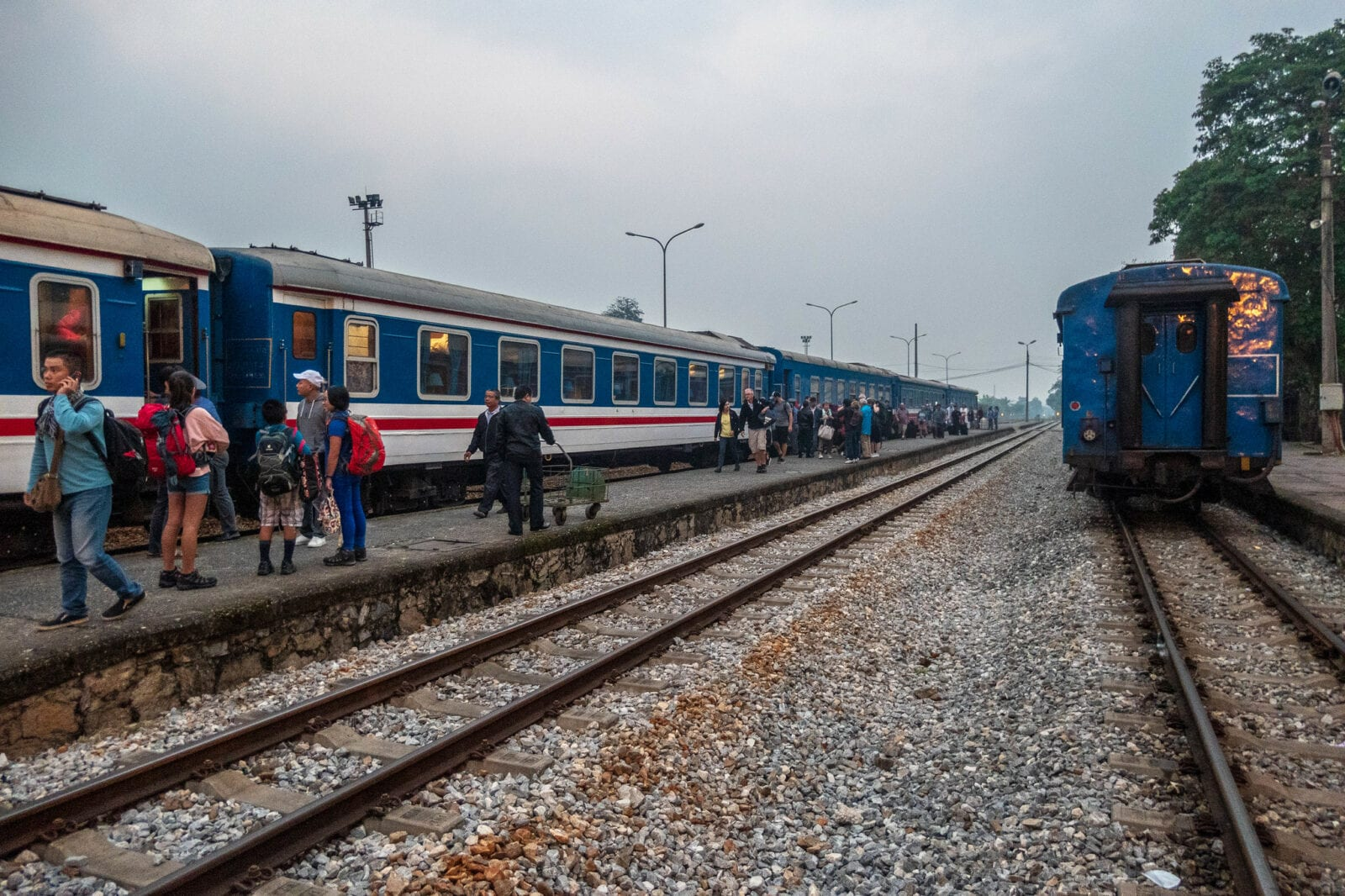 Image of a train on the way to Lao Cai Province in Vietnam