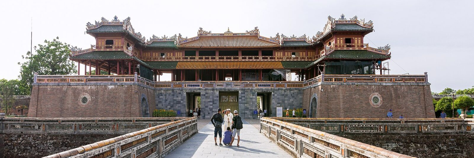 Image of the Meridian Gate in the Imperial City of Hue in Vietnam