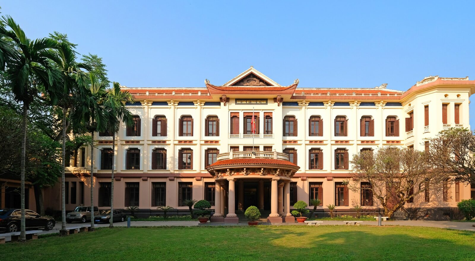 Image of the outside of the Vietnam National Fine Art Museum in Hanoi
