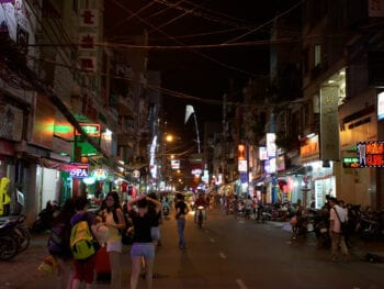 Image of the Bui Vien Street in HCMC, Vietnam