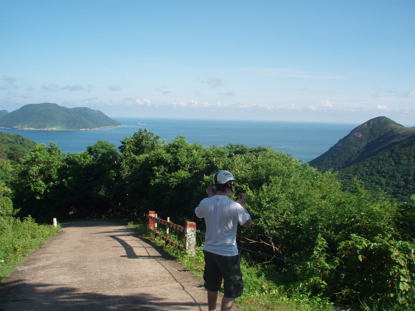 Image of a man on a road on Con Dao in Vietnam