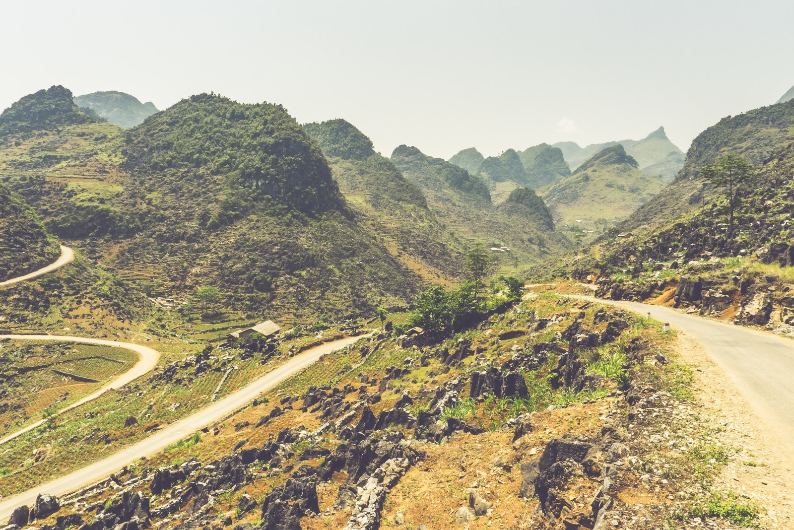 Image of the landscape along the Ha Giang Loop in Vietnam