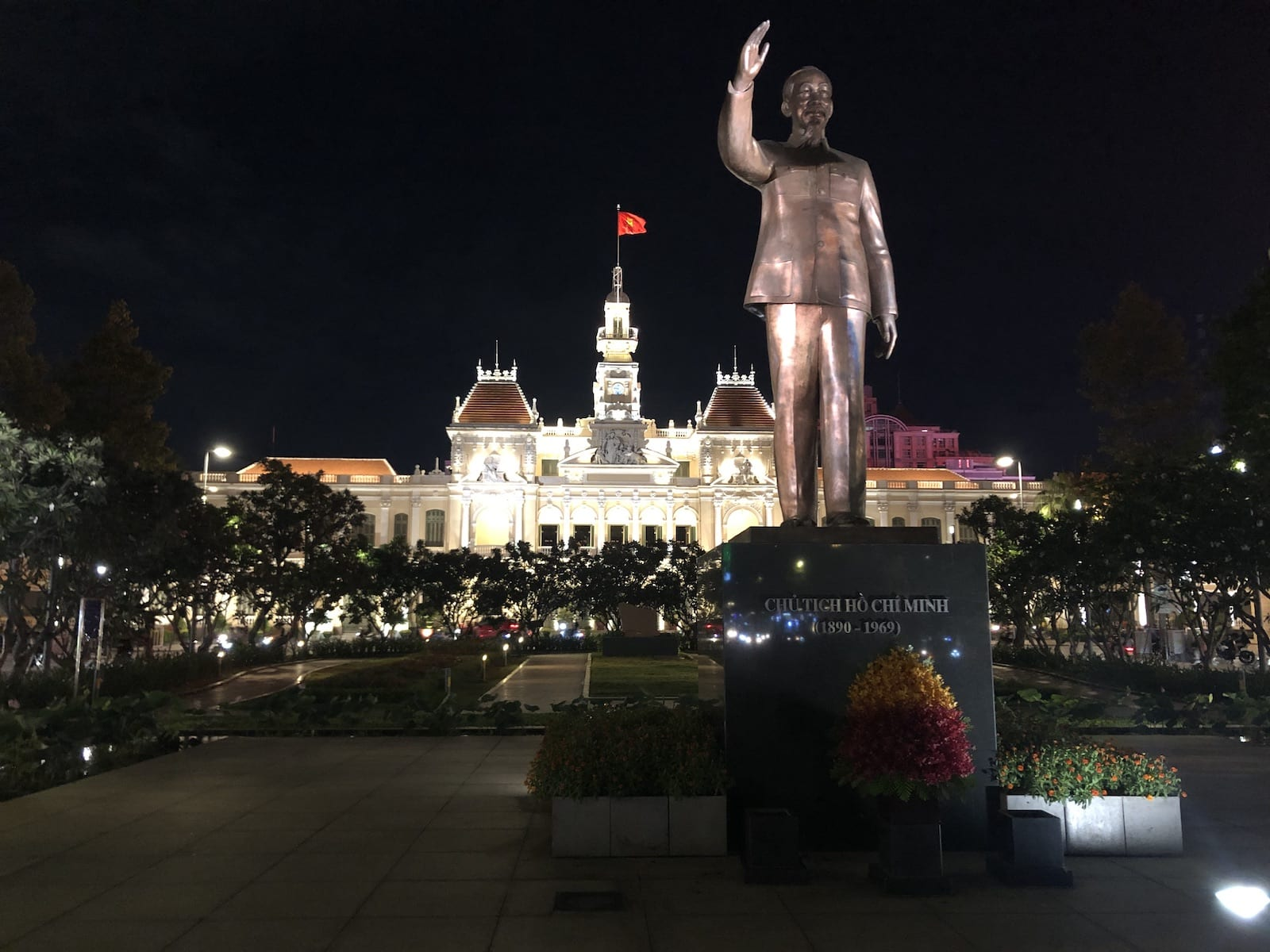 Image of the Ho Chi Minh state on Nguyen Hue Street in HCMC, Vietnam
