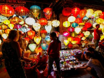Image of a lantern shop at the Hoi An Night Market in Vietnam