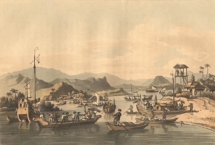Image of the port in Hoi An 1792 when Vietnam was part of Cochinchina
