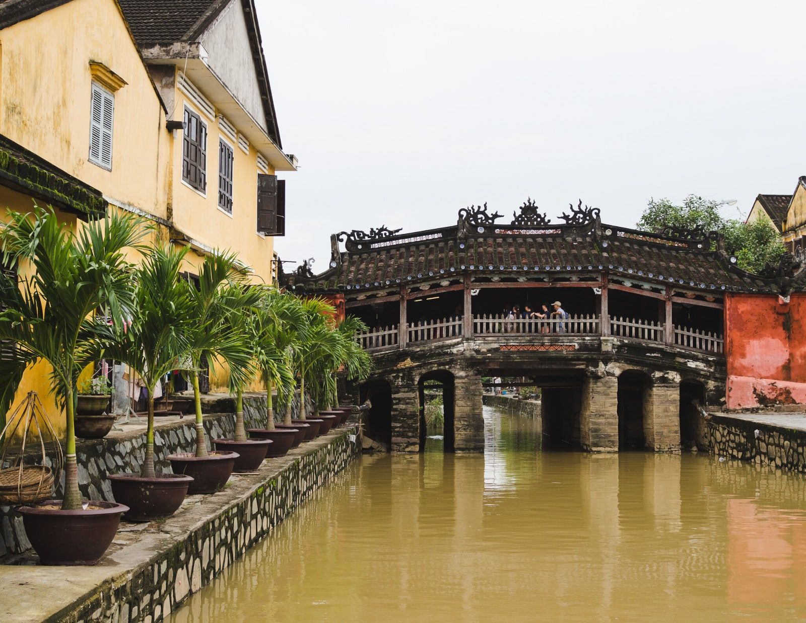 Image of the Japanese Covered Bridge during the day in Hoi An, Vietnam