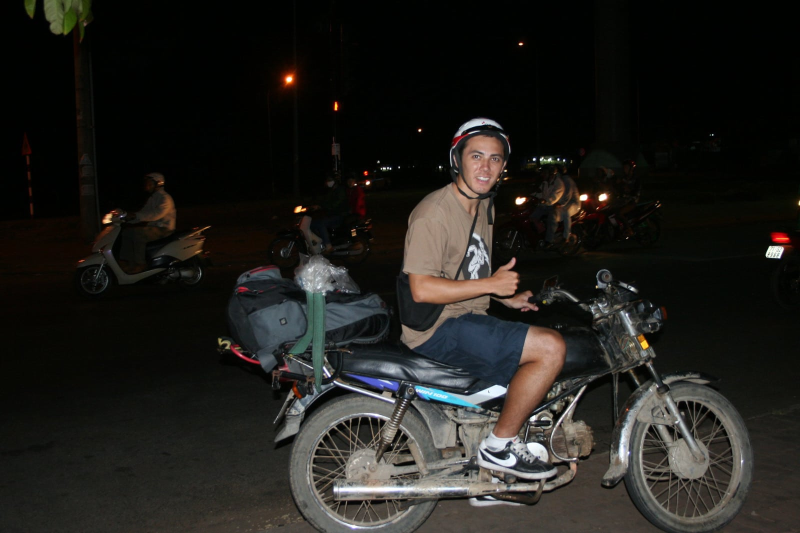 Image of a tourist on a motorbike in Vietnam