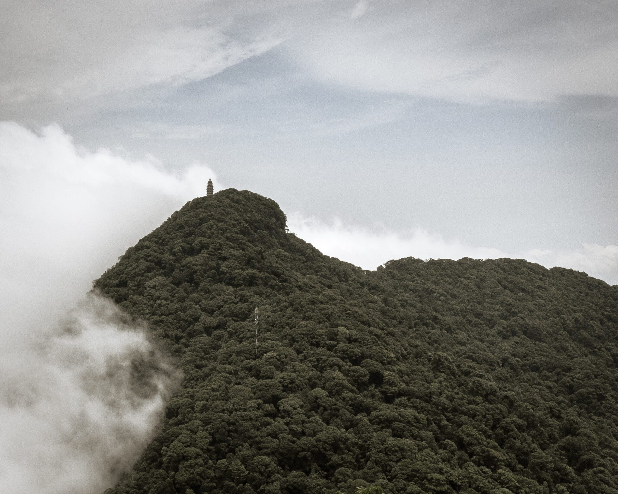 Image of the Nui Vua Summit in Ba Vi National Park Vietnam