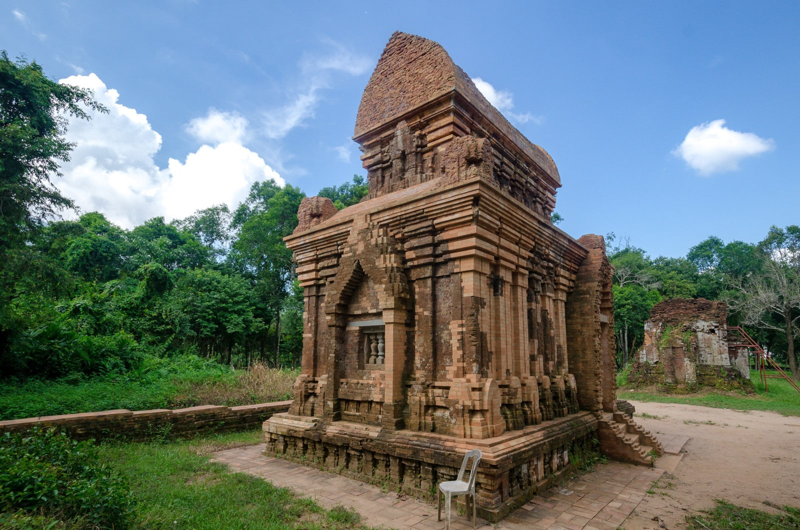 Image of a ruined structure at My Son Sanctuary in Hoi An, Vietnam