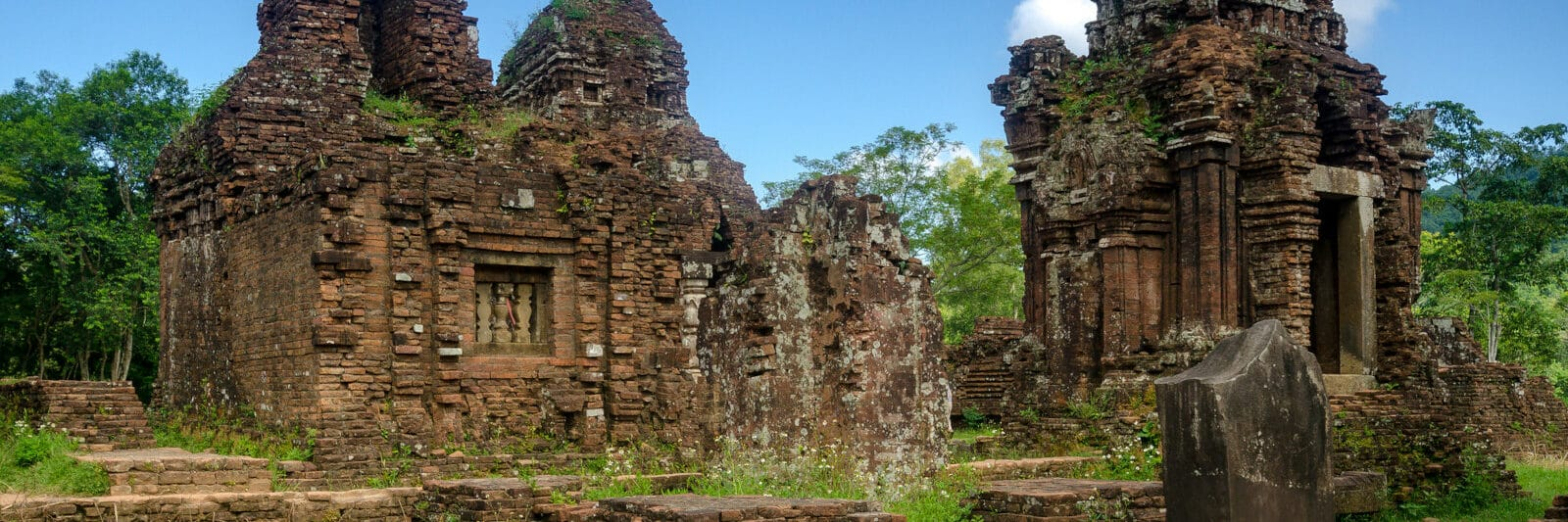 Image of remnants at the My Son Sanctuary in Hoi An, Vietnam