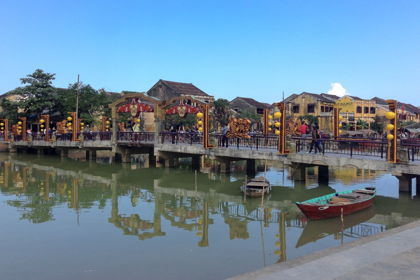 Image of the bridge of lights in Old Town Hoi An, Vietnam