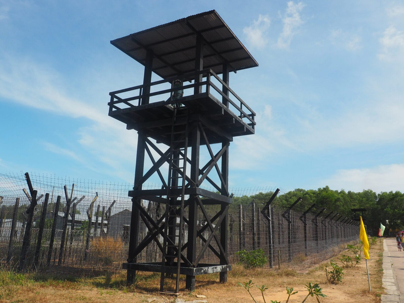 Image of a watchtower at the Phu Quoc Prison Museum in Vietnam