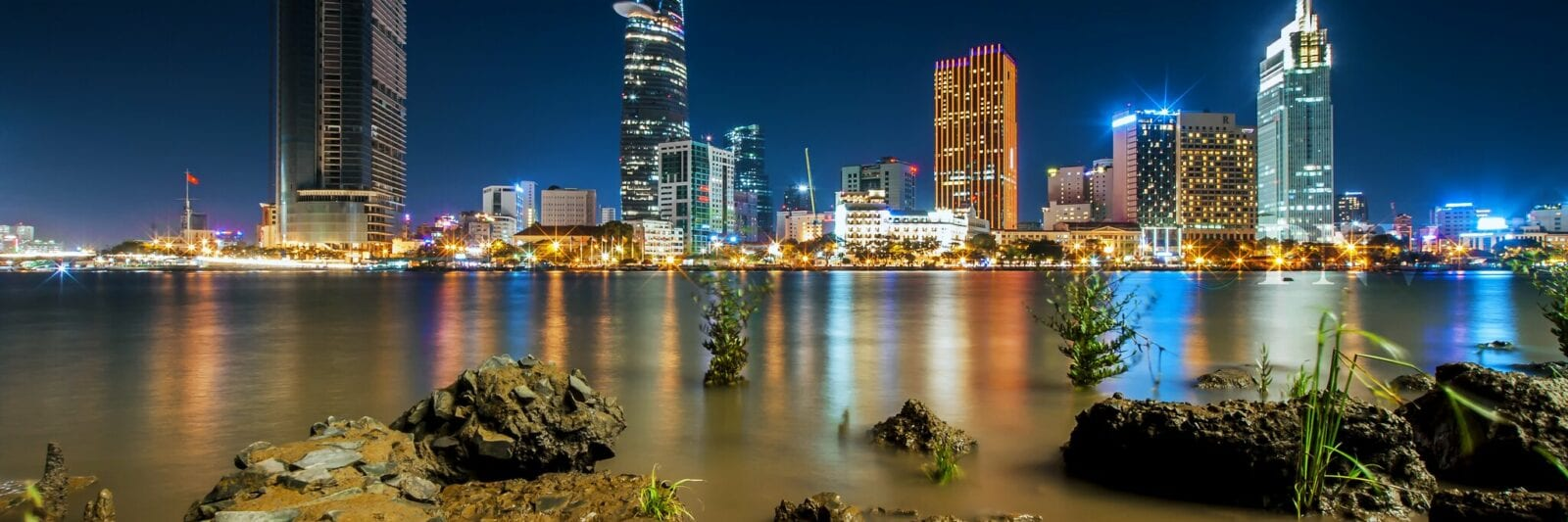 Image of the Saigon skyline in Vietnam