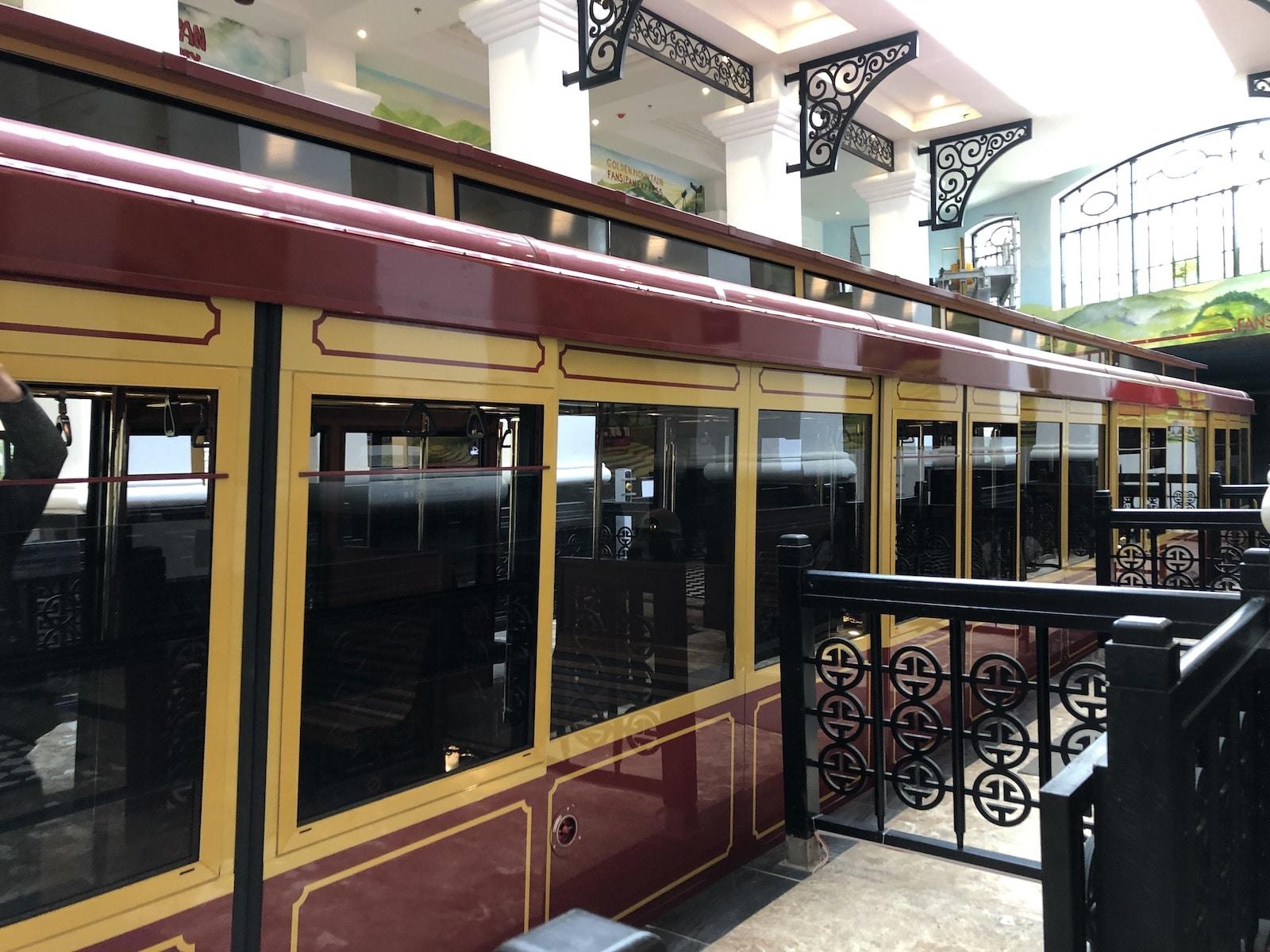 Boarding the Sapa Tram to Fansipan