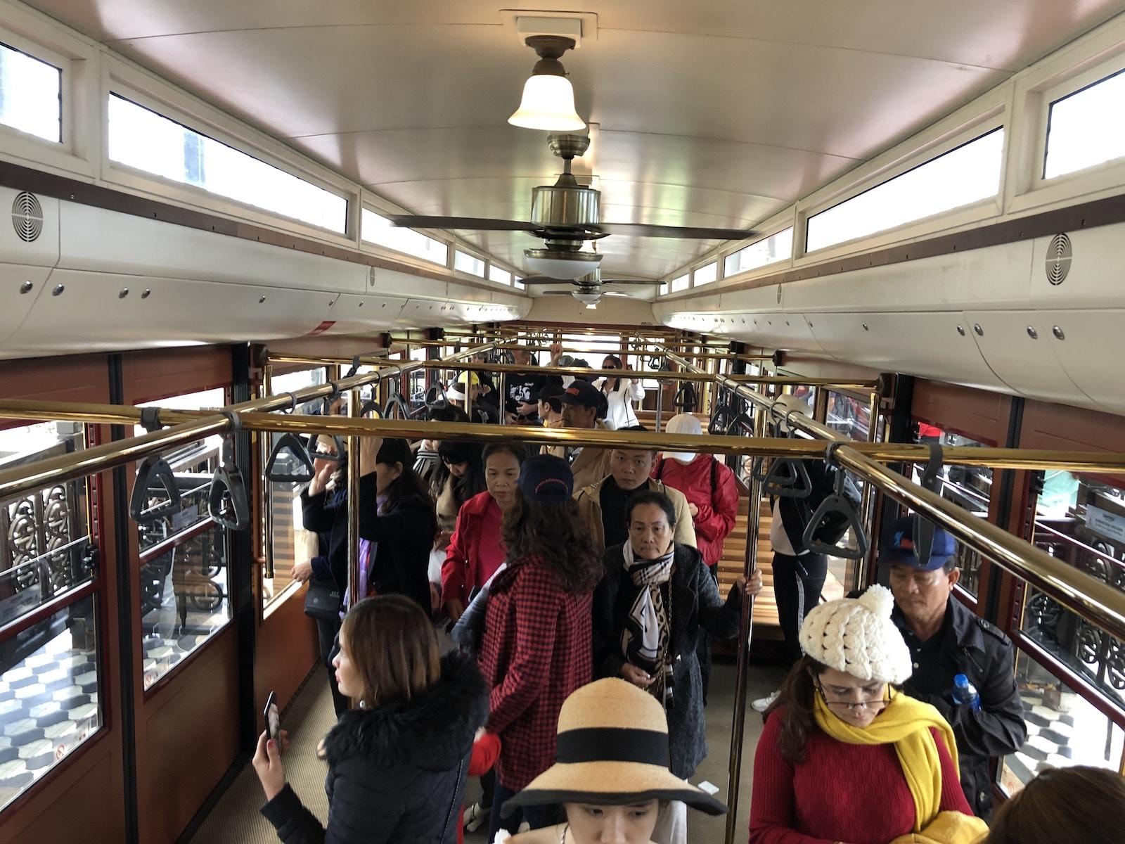 Sapa tram to Fansipan Inside