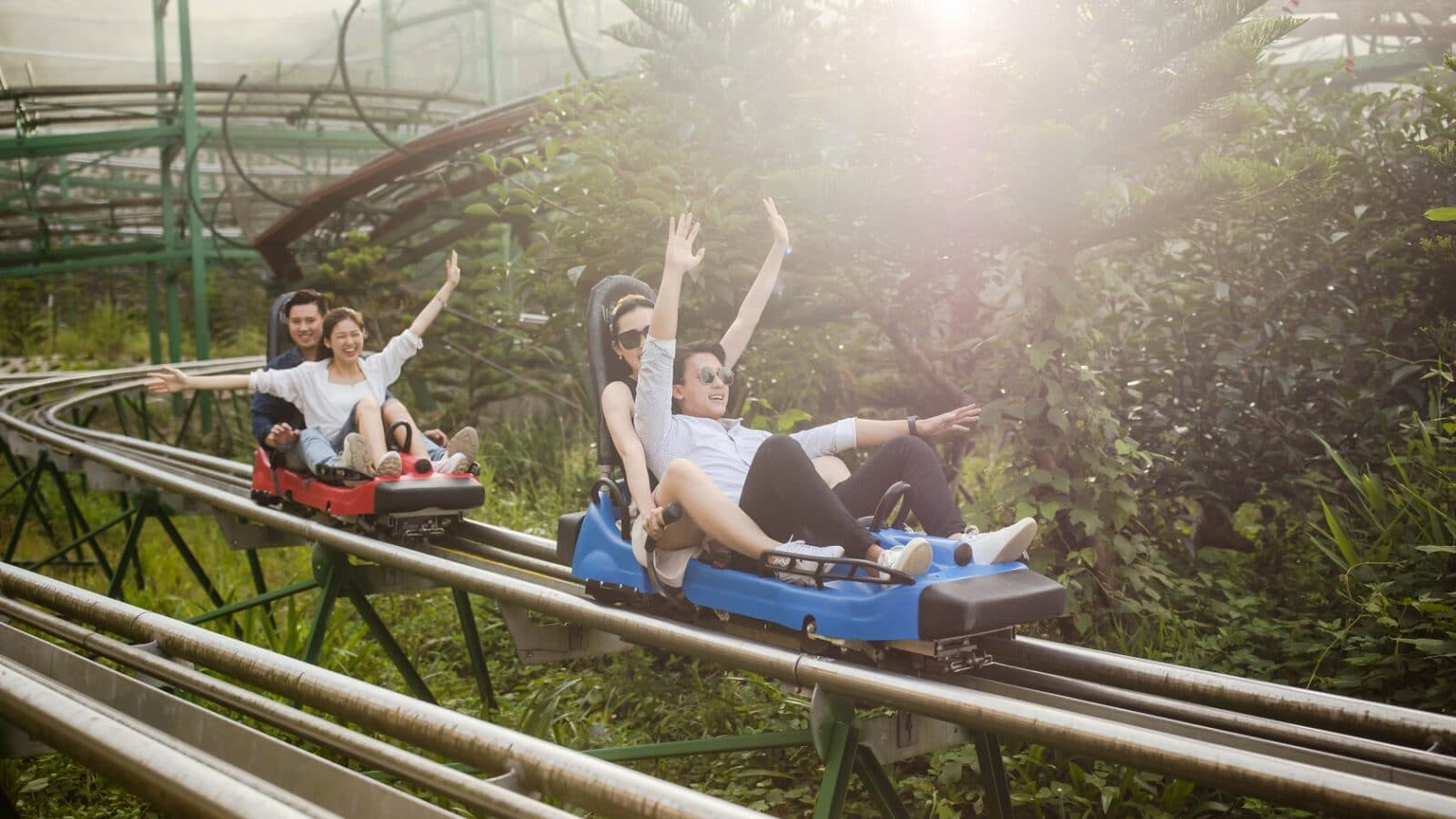 Image of the Sun World Ba Na Hills alpine coaster in Vietnam