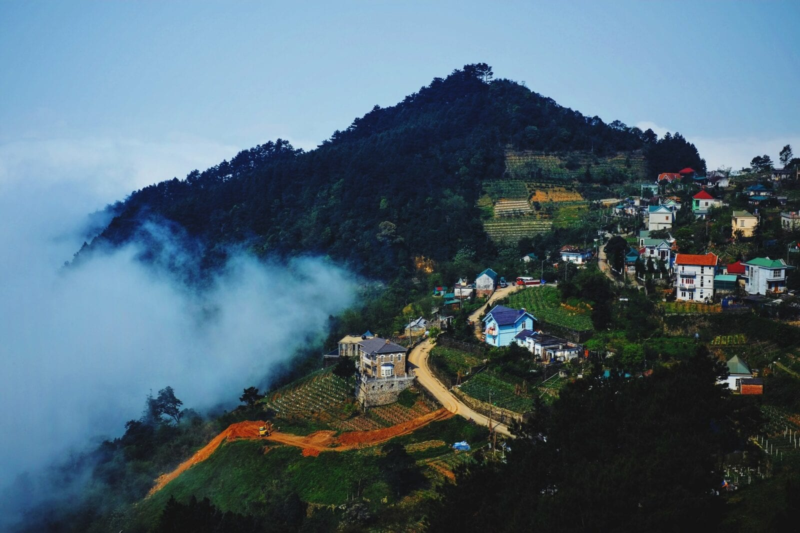 Image of the Tam Dao village in Tam Dao National Park, Vietnam