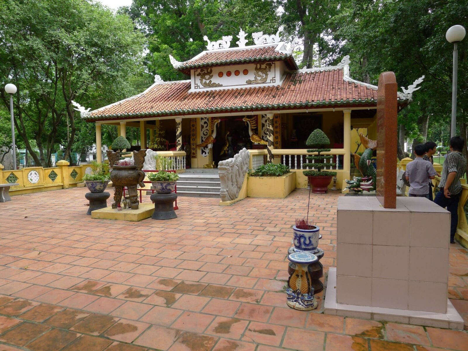 Image of a temple at the Tao Dan Park in Ho Chi Minh City, Vietnam