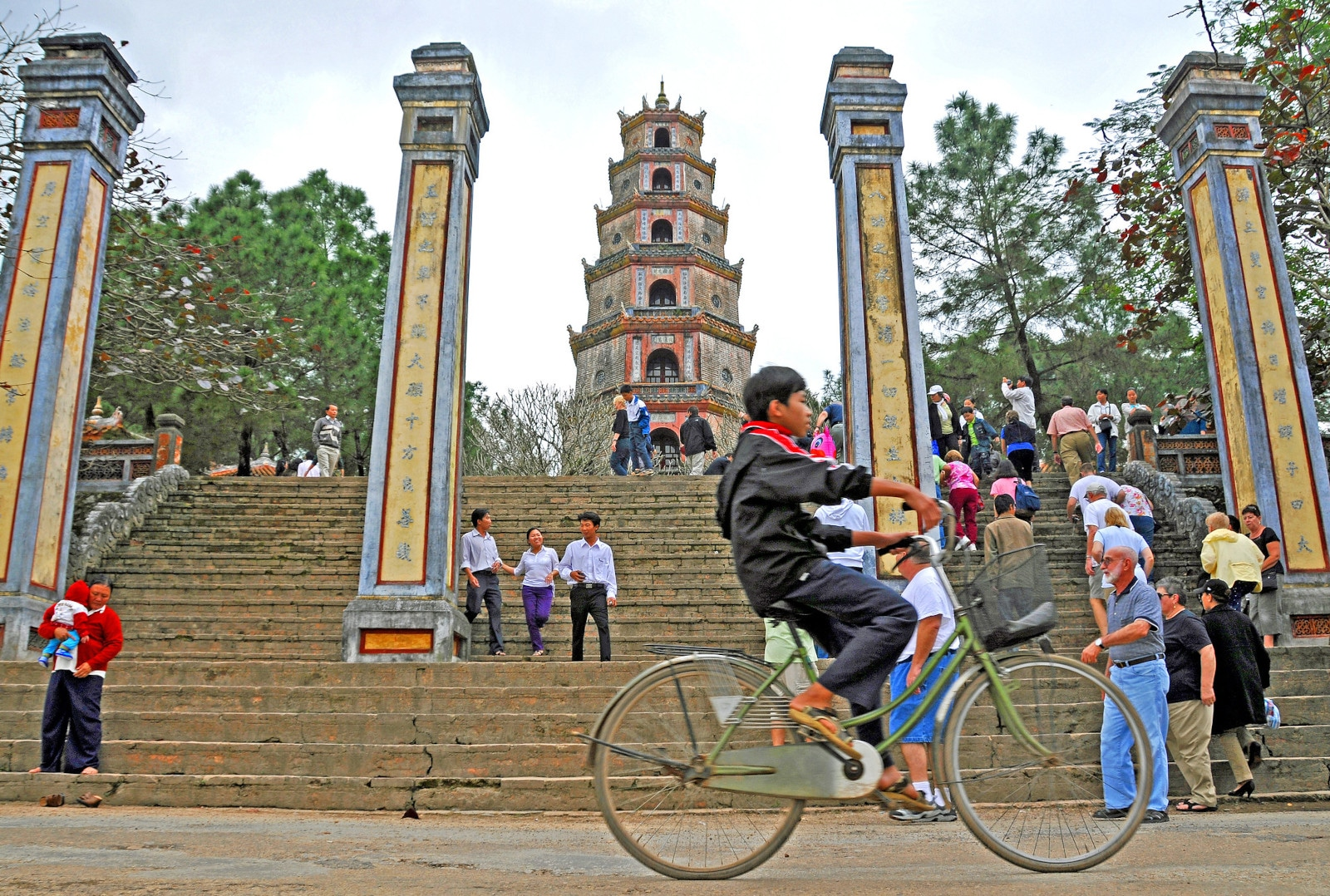 Image of the Thien Mu Pagoda in the Imperial City of Hue, Vietnam