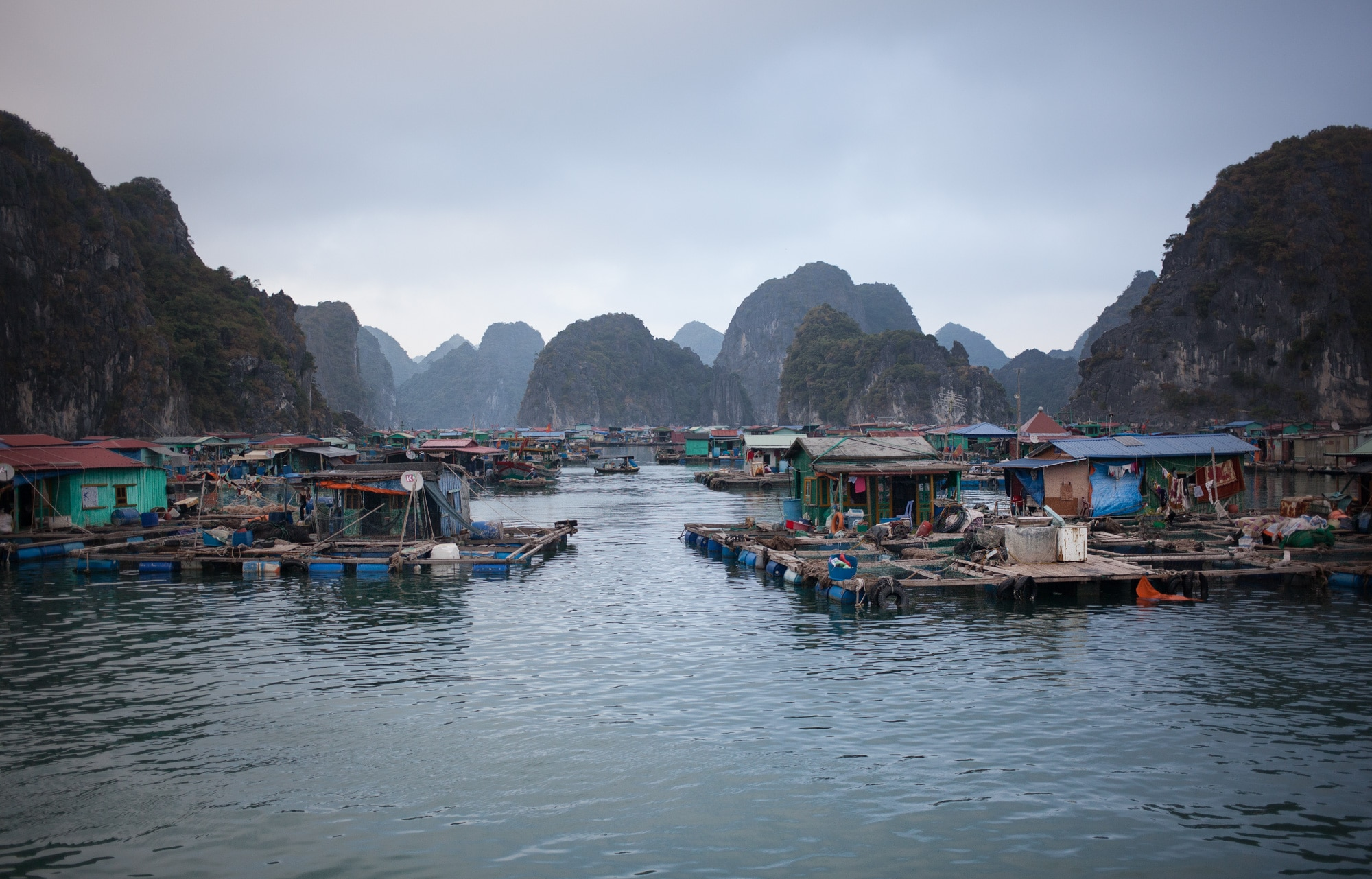 Viet Hai Village in Cat Ba National Park Vietnam