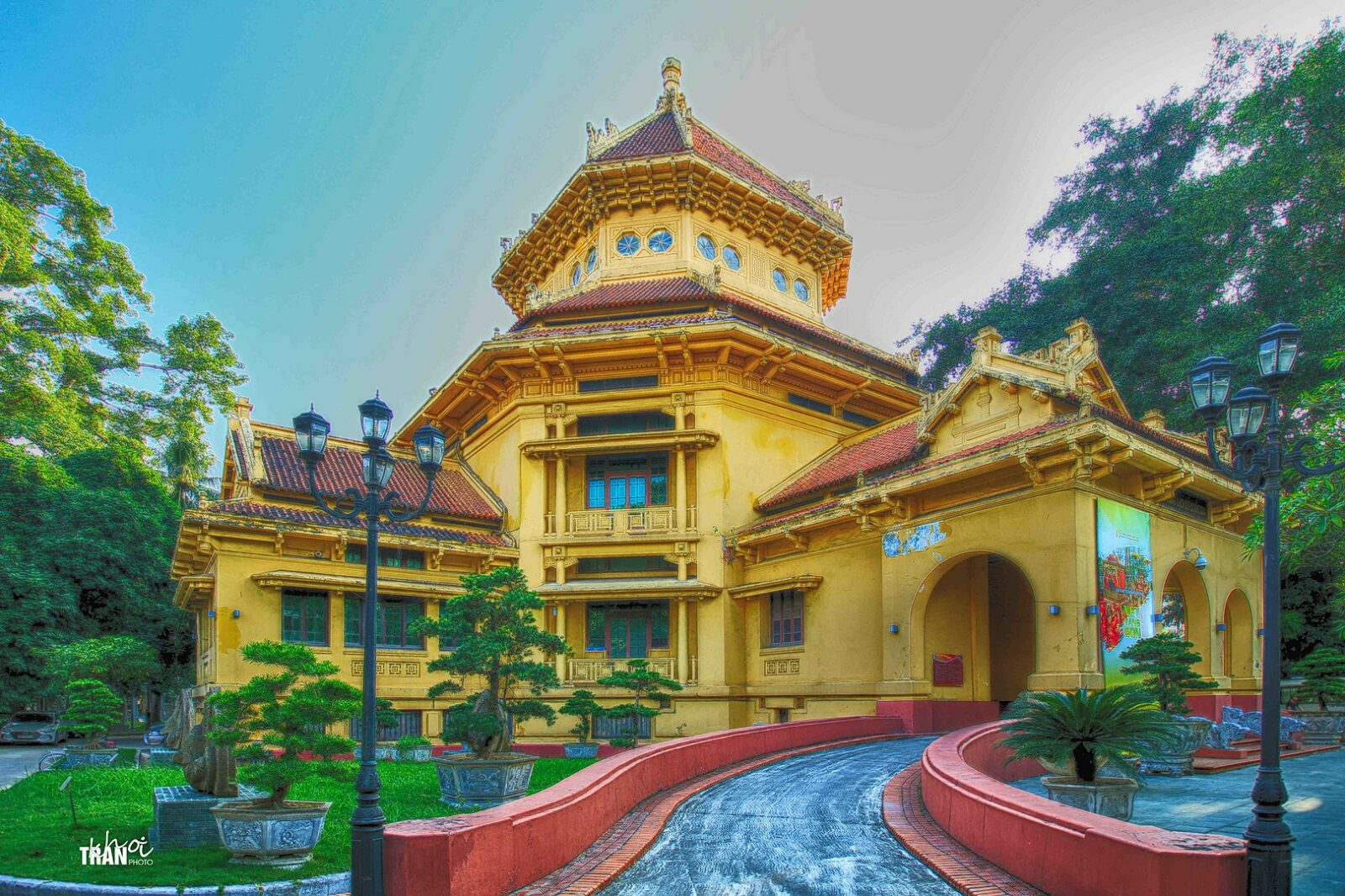 Image of the front entrance to the Vietnam National Museum of History in Hanoi, Vietnam