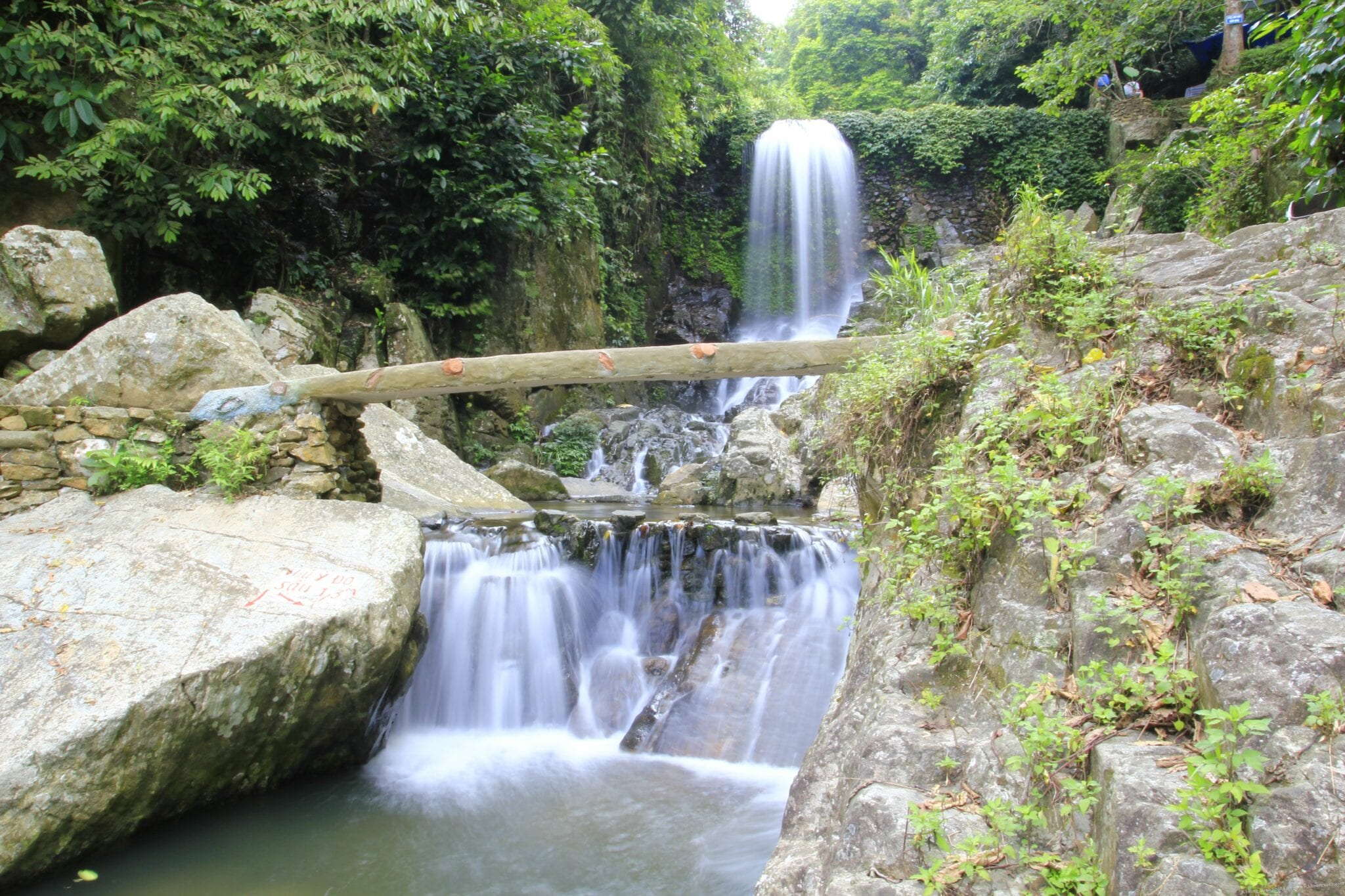 Image of a waterfall in Ba Vi National Park Vietnam